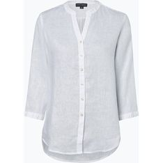 Koszula damska Franco Callegari na wiosnę lniana bez wzorów