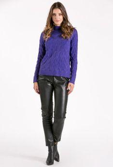 Sweter ze stójką z wzorem