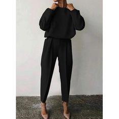 Spodnie damskie czarne Sandbella jesienne