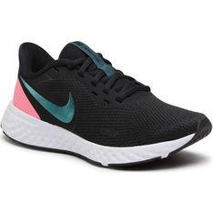 Buty sportowe damskie Nike revolution czarne płaskie