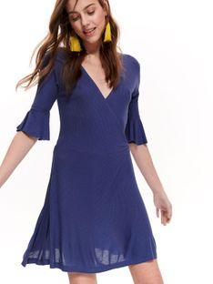 Sukienka damska, z kopertowym dekoltem