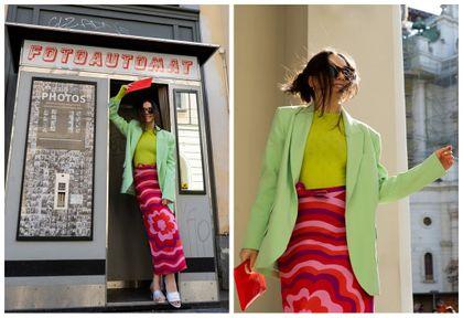 #Stylizacje Avanti24. Lata 60. w nowoczesnym looku z ołówkową spódnicą