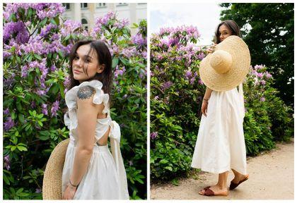 #Stylizacje Avanti24.pl - look w rustykalnym stylu z białą, popelinową sukienką według Wiktorii Nestoruk