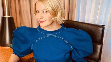 Małgorzata Kożuchowska w jeansowym total looku! Bluzka z tym oryginalnym detalem robi furorę
