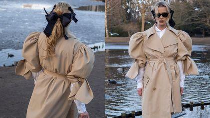 Maffashion w beżowym płaszczu ze specjalnej kolekcji HM. Ten oryginalny model robi furorę w sieci