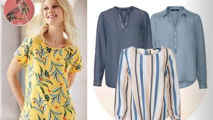 Bluzki z Lidla - TOP 12 modeli na wiosnę. Model z bawełny w roślinne printy kupisz za 24,99 zł!