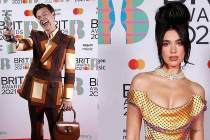 Brit Awards 2021: Harry Styles z damską torebką, a Dua Lipa jak Amy Winehouse. O tych stylizacjach mówi dziś świat!