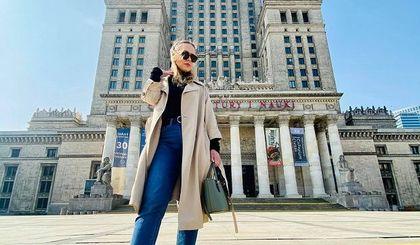 #Stylizacje Avanti24. Klasyczny look z długim trenczem w wykonaniu Aleksandry Matczuk