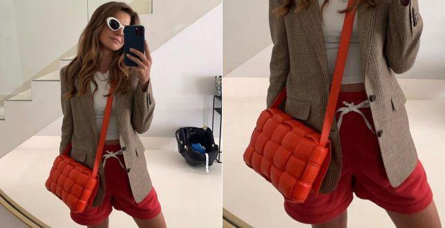 Get the look: Anna Lewandowska z najmodniejszą torebką sezonu! Podobny model ma też Julia Wieniawa i Hailey Bieber
