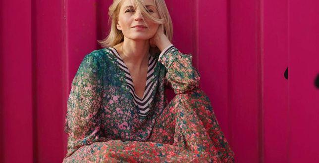 Get the look: Małgorzata Foremniak zadaje szyku w supermodnej sukience z wyprzedaży. To na punkcie tego wzoru oszalały Polki!