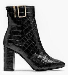 "Tommy Hilfiger ""Croco Look High Heel Boot"" Black"