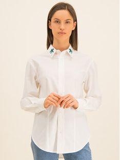 Guess Koszula Ls Isa W01H58 WCLQ0 Biały Regular Fit