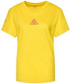 Vans T-Shirt Tri Boyfriend VN0A4SCY Żółty Regular Fit