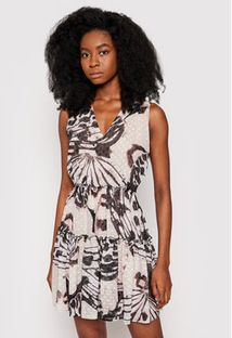 Trussardi Jeans Sukienka koktajlowa Fil Coupe Butterfly Print 56D00351 Brązowy Regular Fit