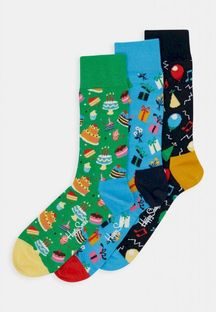 HAPPY SOCKS - HAPPY BIRTHDAY SOCKS GIFT SET 3 PACK - Skarpety - wielokolorowy