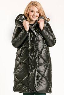 Ciepły, pikowany płaszcz damski