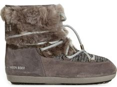 Śniegowce damskie Moon Boot tkaninowe