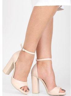 Sandały damskie Brilu ze skóry ekologicznej z klamrą na platformie koronkowe