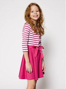 Polo Ralph Lauren Sukienka codzienna Stripe Solid 313720091001 Różowy Regular Fit
