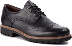 Półbuty CLARKS - Batcombe Wing 261271927  Black Leather