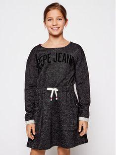 Pepe Jeans Sukienka codzienna Evelyn PG951446 Czarny Regular Fit