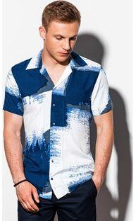 Koszula męska Ombre z krótkim rękawem