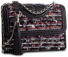 Torebka TORY BURCH - Fleming Tweed Small Convertible Shoulder Bag 52312 Boucle Lurex Tweed 114
