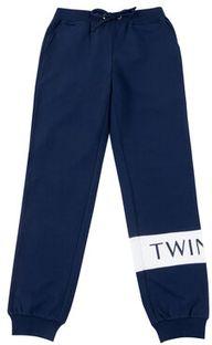 TwinSet Spodnie dresowe 201GJ2374 D Granatowy Regular Fit