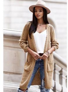Sweter damski Born2be brązowy