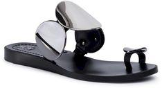 Japonki TORY BURCH - Patos Multi Disk Sandal 63573 Perfect Black 006