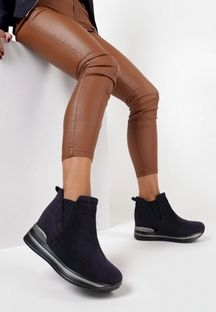 Granatowe Sneakersy Ilenolla