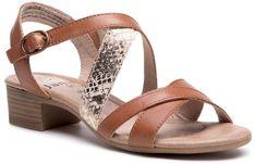 Sandały JANA - 8-28256-26 Cognac Comb 396