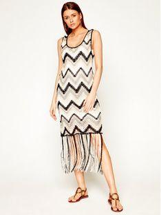 Desigual Sukienka dzianinowa Vest_Vancouver 20SWVF08 Kolorowy Slim Fit