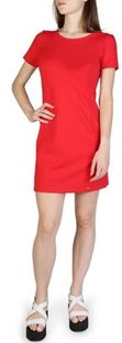 Sukienka Armani Exchange z okrągłym dekoltem z krótkimi rękawami mini