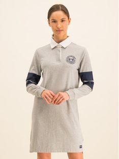 Superdry Sukienka dzianinowa Webb Rugby W8000056A Szary Regular Fit