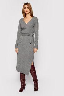 Trussardi Jeans Sukienka dzianinowa 56D00402 Szary Regular Fit