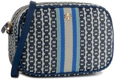 Torebka TORY BURCH - Gemini Link Canvas Mini Bag 57743 Bondi Blue Gemini Link 453