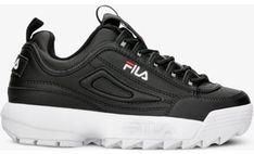Fila sneakersy damskie na wiosnę młodzieżowe czarne sznurowane
