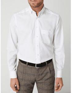 Koszula męska Olymp z tkaniny z kołnierzykiem button down elegancka