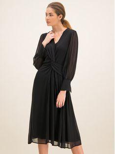 Laurèl Sukienka koktajlowa 11004 Czarny Regular Fit
