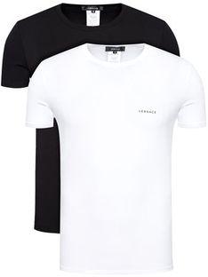 Versace Komplet 2 t-shirtów Intimo AU04023 Kolorowy Slim Fit