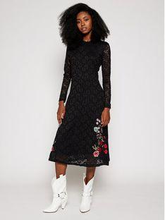 Desigual Sukienka codzienna Venecia 20WWVW77 Czarny Regular Fit