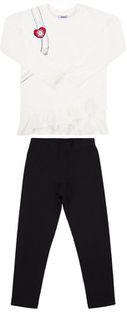 Primigi Komplet bluzka i legginsy Fashion Academy 44192501 Biały Regular Fit