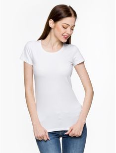 "Silesia Jeans ""Classic L01E Women Ts"" White"