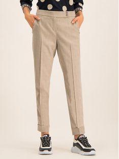 Laurèl Spodnie materiałowe 82061 Beżowy Regular Fit