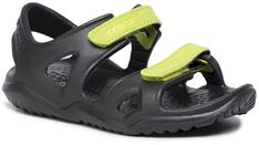 Sandały CROCS - 204988-09W Black/Green
