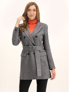 Marella Sukienka dzianinowa Tiffany 30860498 Szary Regular Fit