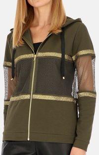 Sportowa bluza z siateczkowymi wstawkami L`AF FOREST