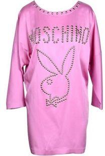 Sukienka Moschino Couture mini z okrągłym dekoltem