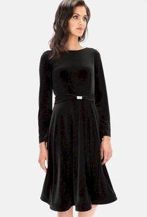 Welurowa rozkloszowana sukienka L`AF CRISTI